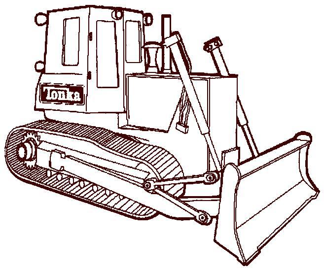 Coloriage et dessins gratuits Bulldozer Tonka facile à imprimer