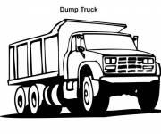Coloriage Camion dumper