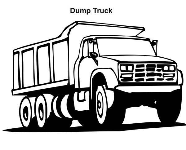 Coloriage et dessins gratuits Camion dumper à imprimer
