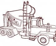 Coloriage Camion malaxeur pour le béton