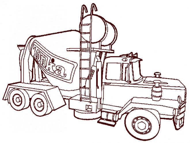 Coloriage et dessins gratuits Camion malaxeur pour le béton à imprimer