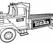 Coloriage Camion plateforme Tonka