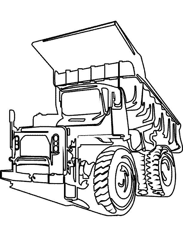 Coloriage et dessins gratuits Camion Tonka à imprimer