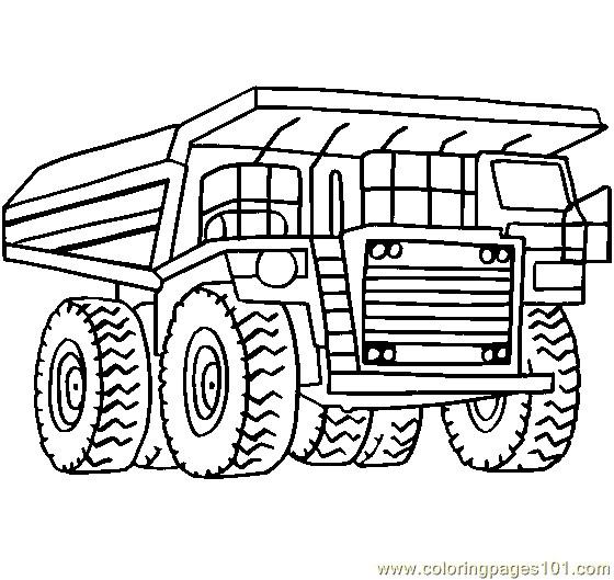 Coloriage et dessins gratuits Camion Tonka en ligne à imprimer