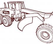 Coloriage et dessins gratuit Engins de chantier Tonka à imprimer