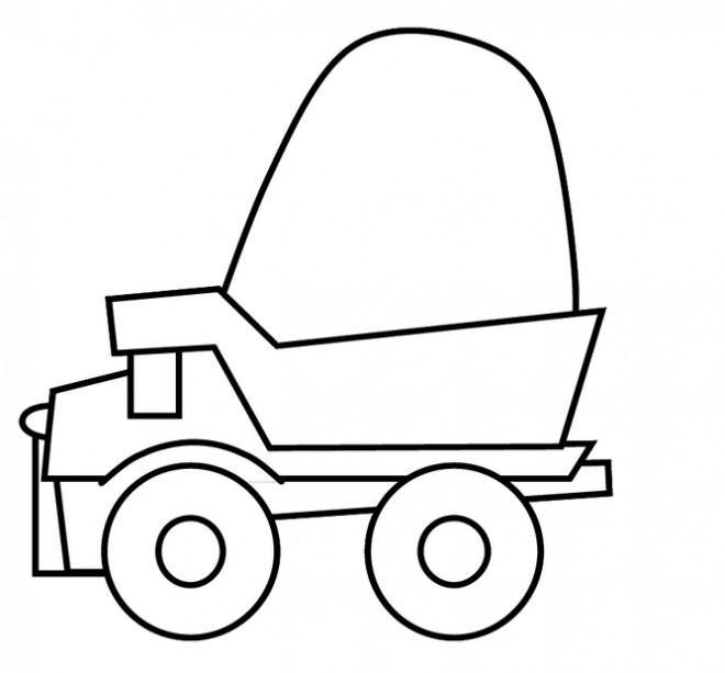 Coloriage et dessins gratuits Tonka simple à imprimer