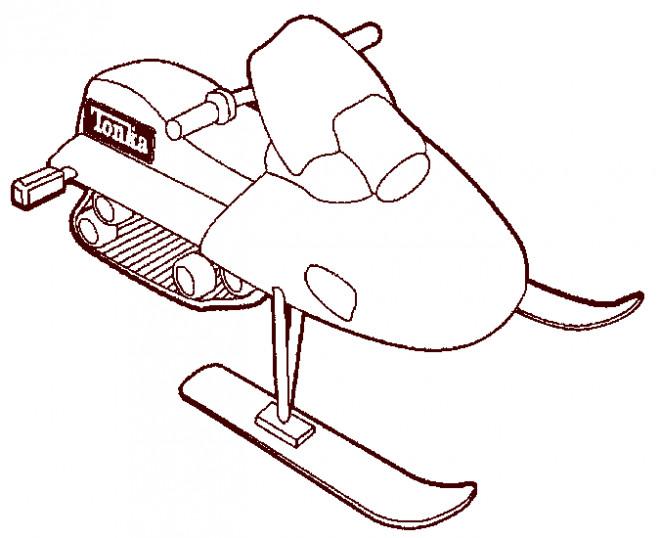 Coloriage et dessins gratuits Tonka transport sur neige à imprimer