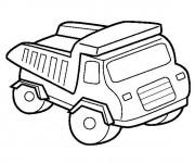 Coloriage Un Camion pour travaux