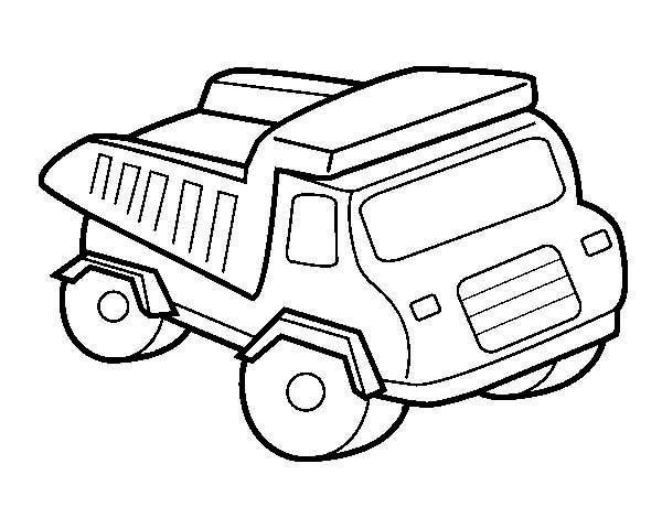 Coloriage et dessins gratuits Un Camion pour travaux à imprimer