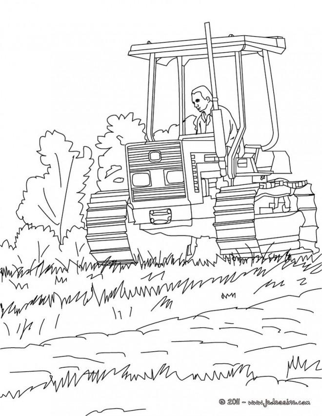 Coloriage et dessins gratuits Agriculture Ensileuse à imprimer