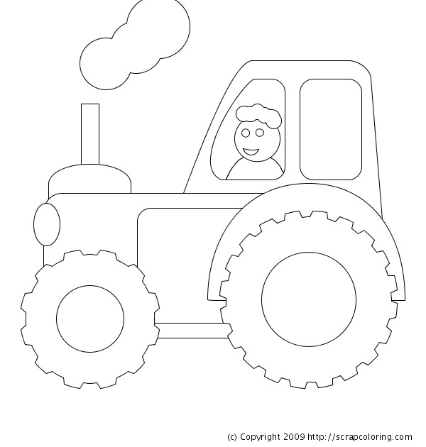 Coloriage et dessins gratuits Chauffeur de Tracteur stylisé à imprimer