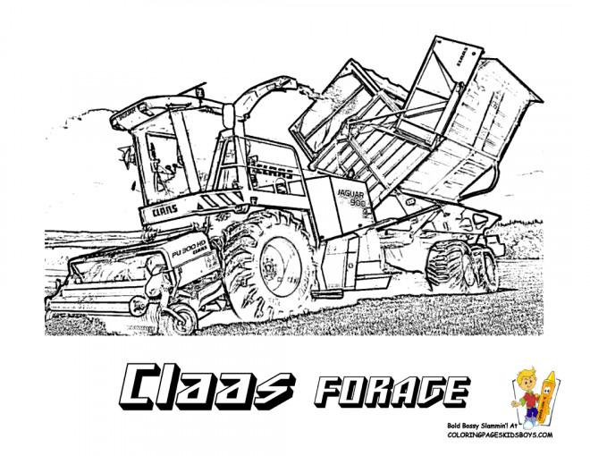 Coloriage ensileuse claas forage dessin gratuit imprimer - Coloriage tracteur claas ...