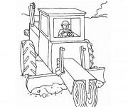 Coloriage et dessins gratuit Équipement Agricole à imprimer