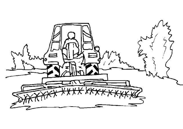 Coloriage moissonneuse dans le champs dessin gratuit - Coloriage tracteur en ligne ...