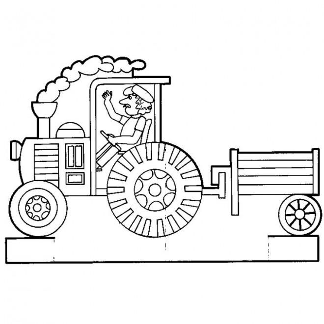 Coloriage et dessins gratuits Remorque vecteur à imprimer