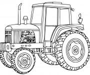 Coloriage et dessins gratuit Tracteur à découper à imprimer