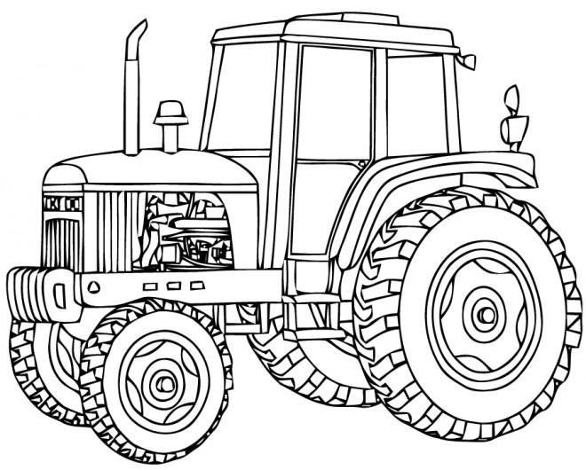 Coloriage tracteur d couper dessin gratuit imprimer - Dessin de tracteur massey ferguson ...