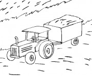 Coloriage Tracteur Agriculture