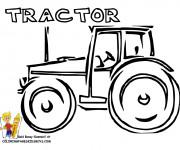 Coloriage Tracteur artistique en vecteur