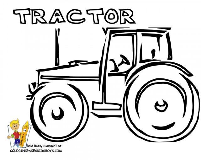 Coloriage Tracteur Artistique En Vecteur Dessin Gratuit à