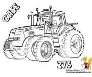 Coloriage Tracteur Case