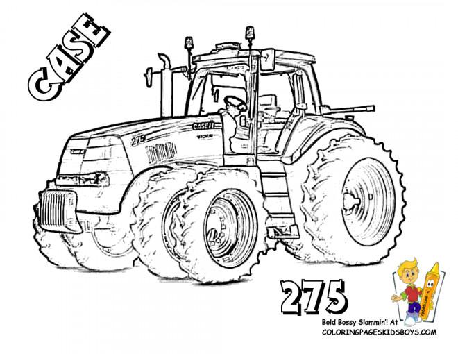 Coloriage tracteur case dessin gratuit imprimer - Dessin d un tracteur ...
