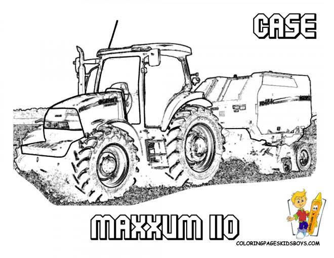 Coloriage tracteur case maxxum dessin gratuit imprimer - Coloriage tracteur claas ...