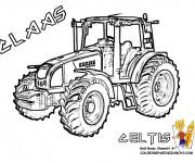 Coloriage et dessins gratuit Tracteur Claas Celtis à imprimer
