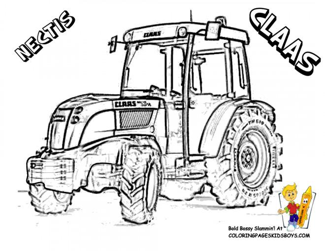 Coloriage et dessins gratuits Tracteur Claas Nectis à imprimer