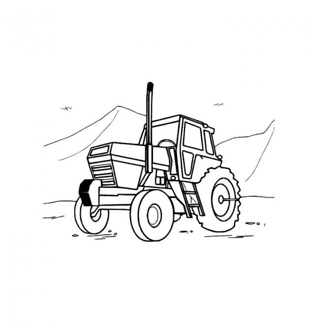 Coloriage et dessins gratuits Tracteur dans le champs à imprimer