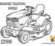 Coloriage Tracteur de jardin Deere