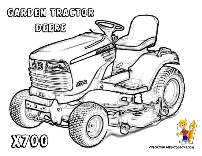 Coloriage Tracteur De Jardin Deere Dessin Gratuit 224 Imprimer