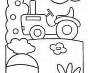 Coloriage et dessins gratuit Tracteur facile à imprimer