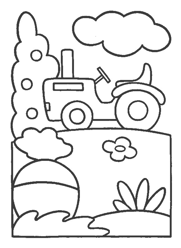 Coloriage et dessins gratuits Tracteur facile à imprimer