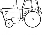 Coloriage Tracteur facile en ligne