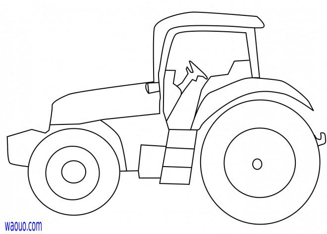 Coloriage tracteur facilement dessin dessin gratuit imprimer - Coloriage tracteur avec remorque ...