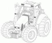 Coloriage et dessins gratuit Tracteur Fendt à imprimer