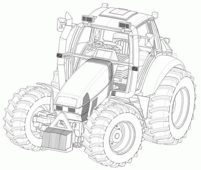 Coloriage Tracteur Fendt Dessin Gratuit à Imprimer