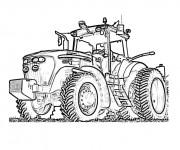 Coloriage Tracteur Fendt en ligne