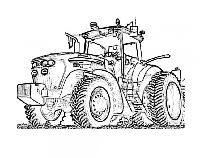 Coloriage Tracteur Fendt En Ligne Dessin Gratuit à Imprimer