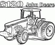 Coloriage Tracteur John Deere