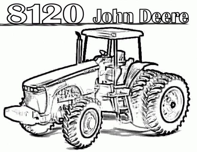 Coloriage Tracteur John Deere Dessin Gratuit à Imprimer
