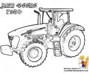 Coloriage Tracteur John Deere à télécharger