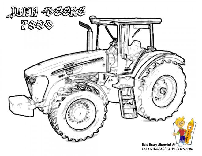 Coloriage Tracteur John Deere A Telecharger