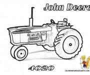 Coloriage Tracteur John Deere pour adulte