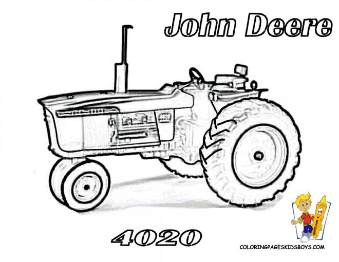 Coloriage Tracteur John Deere Pour Adulte Dessin Gratuit à Imprimer