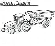 Coloriage Tracteur John Deere réaliste