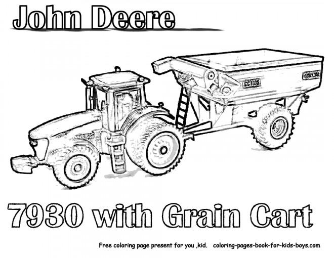 Coloriage Tracteur John Deere Sur Ordinateur Dessin Gratuit A Imprimer