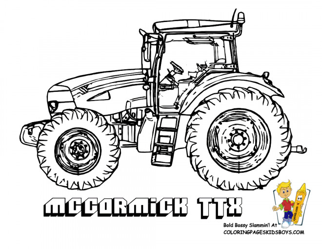 Coloriage et dessins gratuits Tracteur Maccormick à imprimer