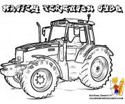 Coloriage et dessins gratuit Tracteur massey ferguson à imprimer